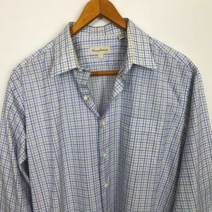 Tommy Bahama Men Checked Multi-Color 17 Shirt